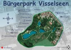 Karte Bürgerpark Visselseen©Stadt Visselhövede