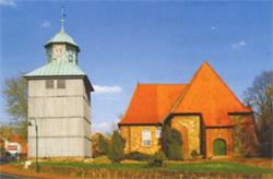 Kirche in Visselhövede mit Glockenturm©Stadt Visselhövede
