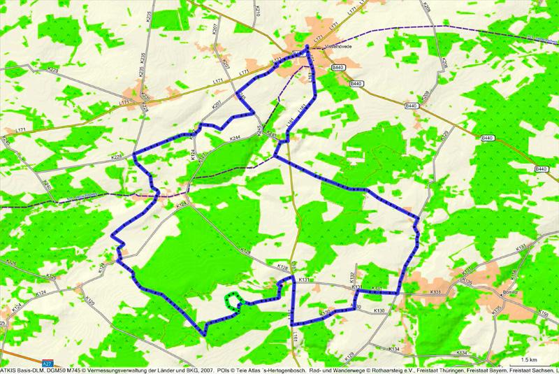 Routenplan Moor-See-Route©Touristikverband Landkreis Rotenburg (Wümme) e.V.